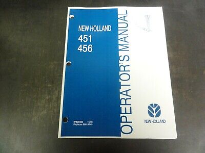 New Holland 451 456 Mowers Operators Manual  87520323