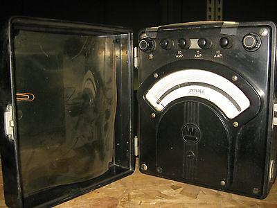 Vintage Westinghouse Portable Amperes Met Type Pa-5 Ac 5-10 Amp Tag 7