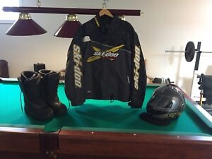 Brp  helmet,boots and jacket shell
