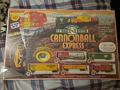 Bachmann Cannonball Express HO Scale Electric train set including handcar