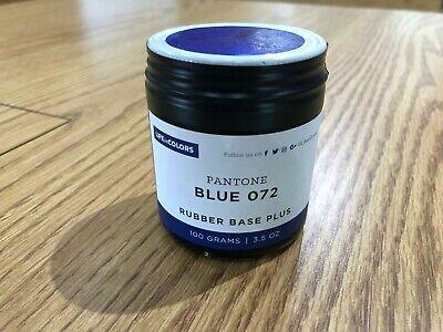 Pantone Blue 072 Rubber Base Plus Ink For Letterpress Printing Press 3.5oz 100gr