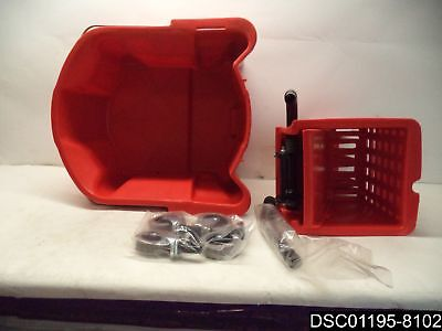 Continental 226-312RD Manufacturing Red 26 Qt. Mop Bucket with -