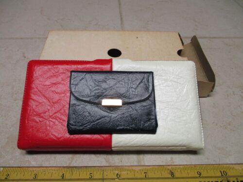 VTG NOS Womens Red White Blue Billfold Checkbook Wallet Holder Phillips 66 Premi