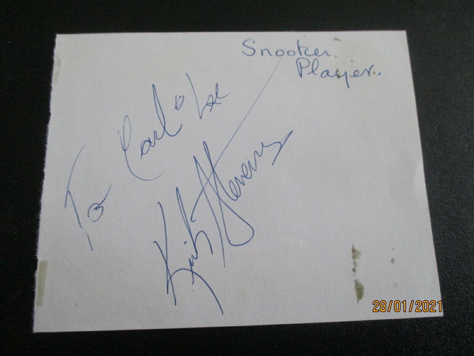 KIRK STEVENS1980s CANADIAN SNOOKER HANDSIGNED AUTOGRAPH