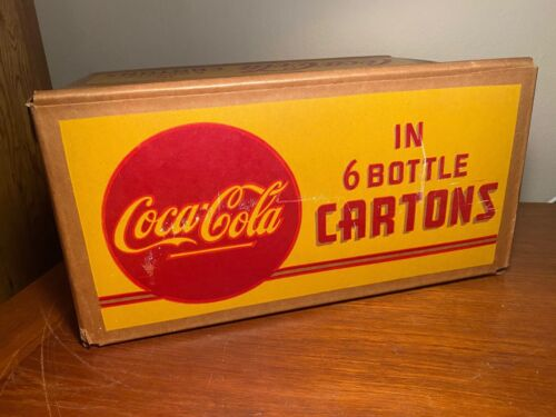 Coca Cola 1940s Fiber Cardboard 6-Bottle Carton Crate Case St. Louis MO