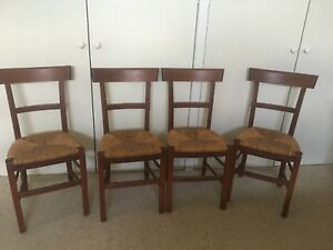 FOUR FRENCH PROVINCIAL STYLE DINING ROOM CHAIRS