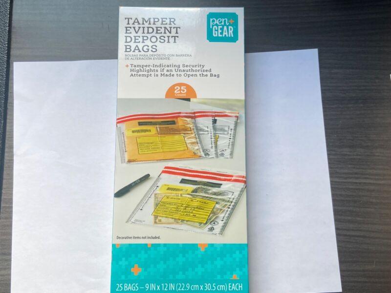 Pen + Gear 25 Count Tamper Evident Deposit Bags Exclusive!