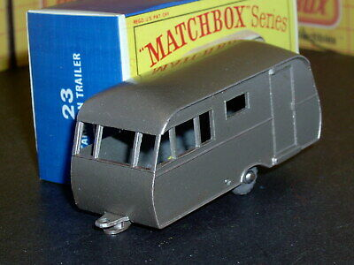 Matchbox Lesney Bluebird Dauphine Caravan 23 c2 mauve 20GPW SC3 NM crafted box