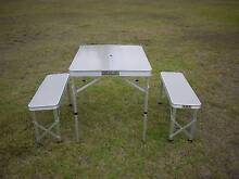 FOLDING CAMPING TABLE AND CHAIRS - SEATS 4 PEOPLE - BRAND NEW Yagoona Bankstown Area Preview