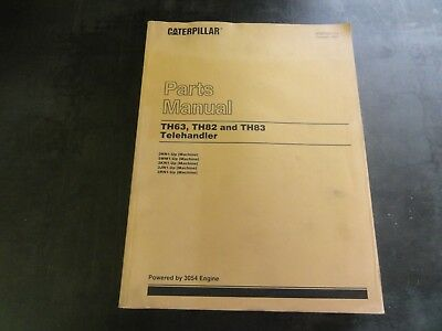 Caterpillar Cat Th63 Th82 And Th83 Telehandlers Parts Manual Sebp2351-03 97