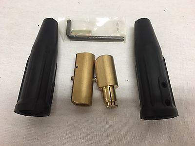 Welding Cable Connector Set Size Cc40lc-40 Set Mf Set 10-40 Twist Lock
