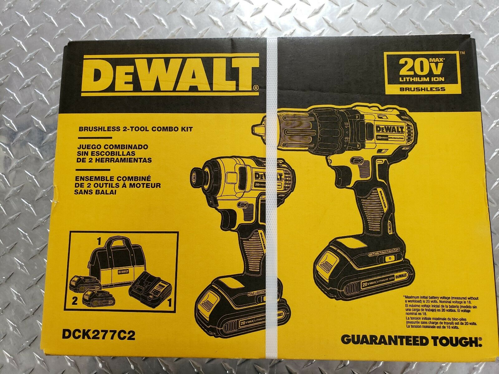 DEWALT DCK277C2 20V MAX Compact Brushless Drill and Impact C