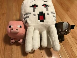 Minecraft Plush Large Ghast, Small Pig and Small cow