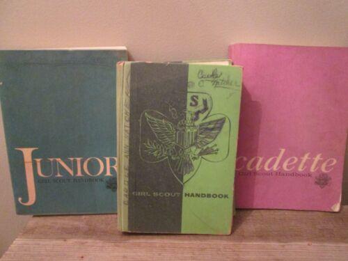 Lot 3 Vintage Girl Scout Manuals Junior Cadette Interrmediate Program - USED