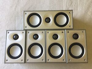 Mordaunt Short Surround 5 Speakers With 2 Stands.