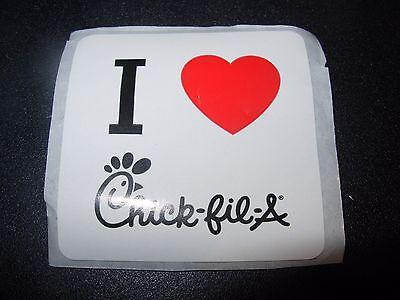 Chick Fil A I Love Chick Fil A Heart 2  Promo Sticker Decal