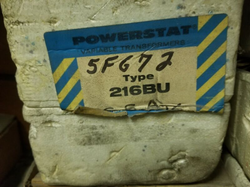216BU Powerstat Variable Autotransformer NEW NOS Free S&H