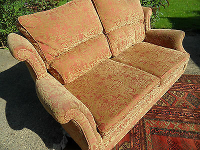 DEL £50 3 Seater Traditional Winged Back Lounge Sofa Settee Couch