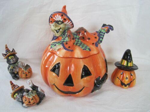 Fitz and Floyd Witch Hazel Halloween Cookie Jar