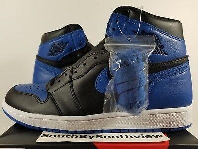 Nike Air Jordan 1 Royal Blue 2017 Size 11 I High OG Royals Black 555088-007 DS