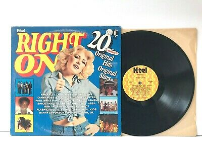 K-Tel Right On Vinyl LP Record Album 1976 Elton John Thin Lizzy ELO Heart Abba