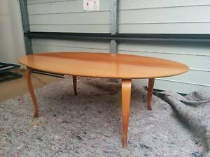 Cherry wood coffee table and x 2matching side tables Taren Point Sutherland Area Preview