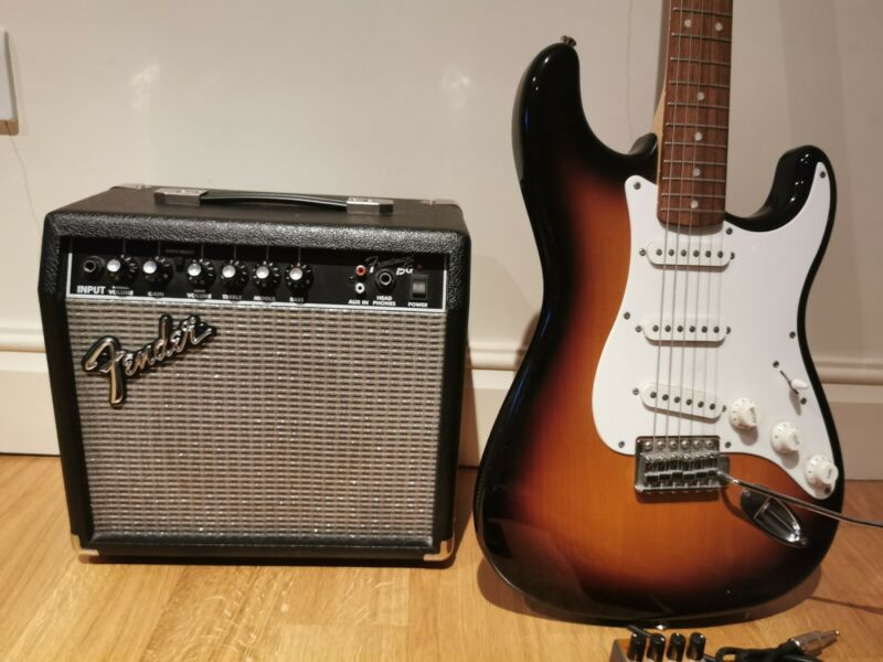 Fender Squier Stratocaster and Amplifier set with extras