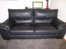 BLACK LEATHER COUCH Warrnambool 3280 Warrnambool City Preview