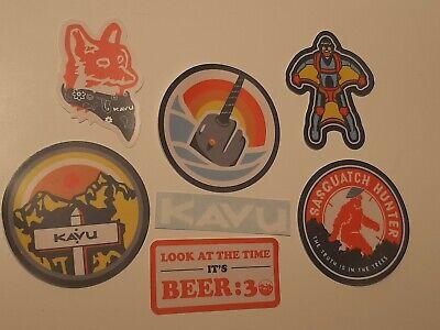 KAVU Scout Badges Outdoor Sticker Pack x 7