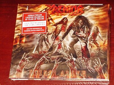 Kreator  Dying Alive Deluxe Edition 2 Cd   Dvd 3 Disc Set 2013 Usa Nb 3053 2 New