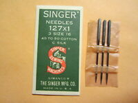 Qty 1 Singer 1W1 Curved Sewing Machine Needle Size 16 Wheeler /& Wilson