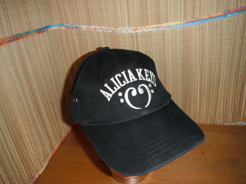ALICIA KEYS -BLACK CAP HAT ADJUSTABLE