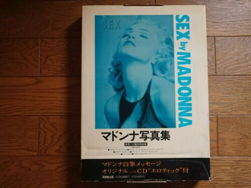 MADONNA SEX Japan Photo Picture Book New Old Stock SEALED w/ BOX CD