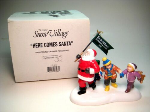 Dept 56 Here Comes Santa Christmas Snow Village Lighted House Accessory 7762 (A)