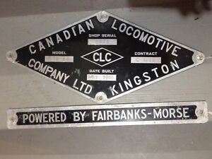 Locomotive builder plates