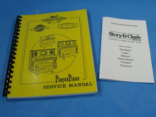 Universal Player Piano, Service, Rebuilding  Manual,  93 pages, 2 Books