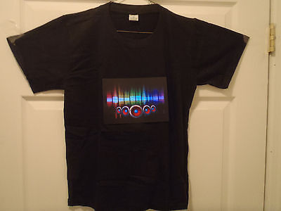 SOUND MUSIC Activated LED LIGHT UP FLASHING SPEAKER DJ rave PARTY concert TSHIRT](Sound Activated Leds)