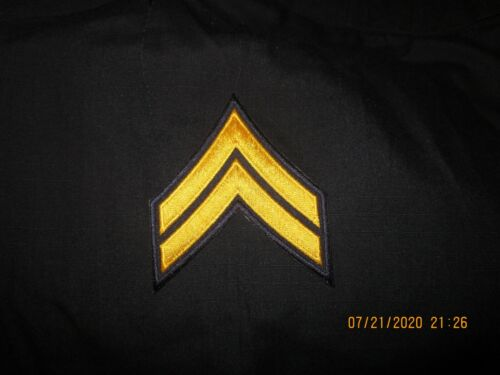 2 Pair Corporal Gold Stripes Sew or Iron On New