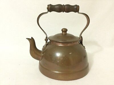 Imported Handcrafted COPPER and BRASS Old Dutch Design Teapot
