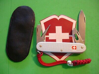 NTSA SWISS ARMY VICTORINOX PKT KNIFE 91mm SILVER ALOX PIONEER W/SHEATH