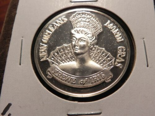 THOTH of IRIS 1973 .999 Fine Silver One Ounce Doubloon New Orleans Mardi Gras .