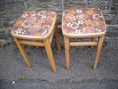 A pair of retro kitchen stools circa 1960,s