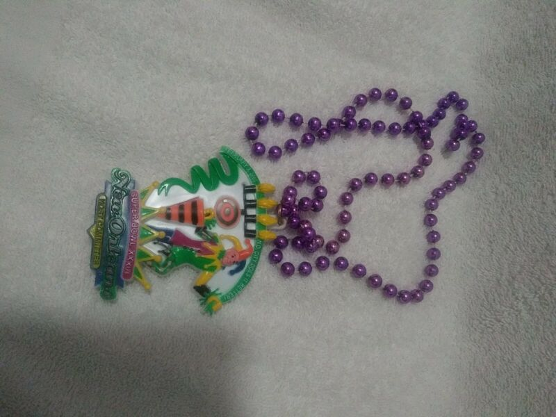 Party Mardi Gras beads Super Bowl New Orleans host committee 2002