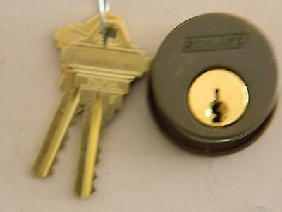 Schlage Mortise Cylinder- Oil Rubbed Bronze- New- E Keyway- Oem