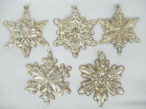 Gorham Sterling Silver 1970 1971 1972 1973 1974 Christmas Snowflake Ornament