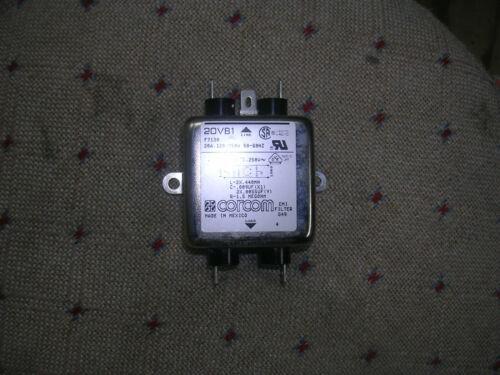 CORCOM  20VB1   EMI POWER LINE FILTER 20 AMP 120/250 VAC