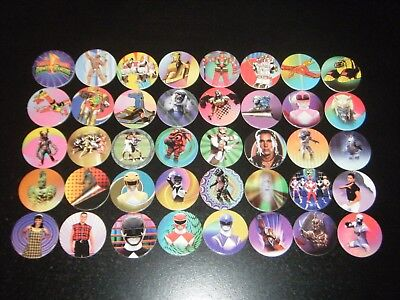 Complete Set Of Mighty Morphin Power Rangers Power Caps Pogs Tazos