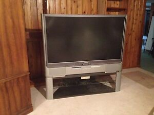 "Epson 57"" Projecrtion TV w stand"