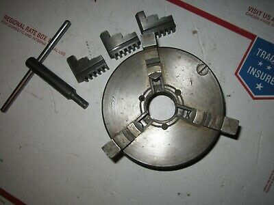 Original Atlas 3 Jaw Self Centering 5 Lathe Chuck 1 12 X 8 Tpi Craftsman