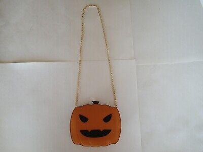 JACK-O-LANTERN PUMPKIN PURSE, Fun Halloween Costume Collectible Shoulder Handbag